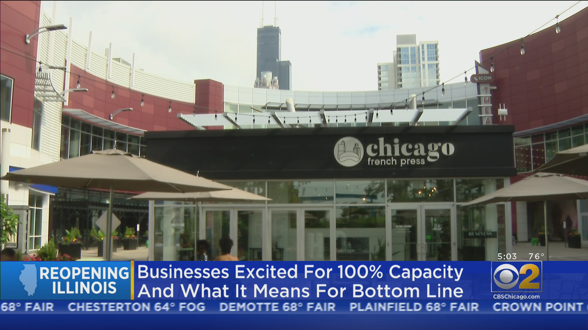 Illinois Enters Phase 5 Of Reopening; Chicago Businesses Prepare For Full Capacity Friday