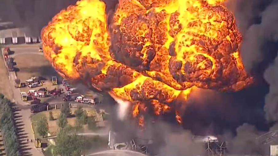 Watch now: Explosion, large fire at northern Illinois chemical plant prompts evacuation of area   Local News