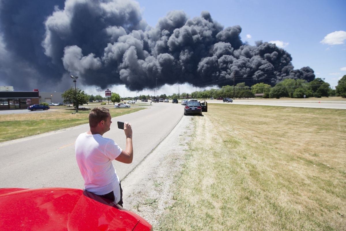 Chemical explosion at Illinois plant injures firefighters, forces evacuation of more than 100 homes and businesses