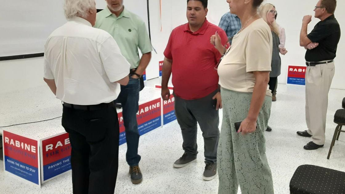 Watch now: Governor candidate Rabine makes campaign stop in Mattoon   Government and Politics