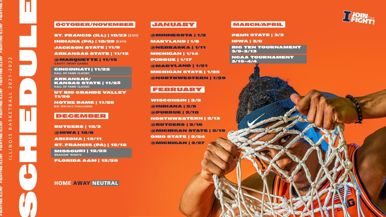 Full Illinois basketball schedule released