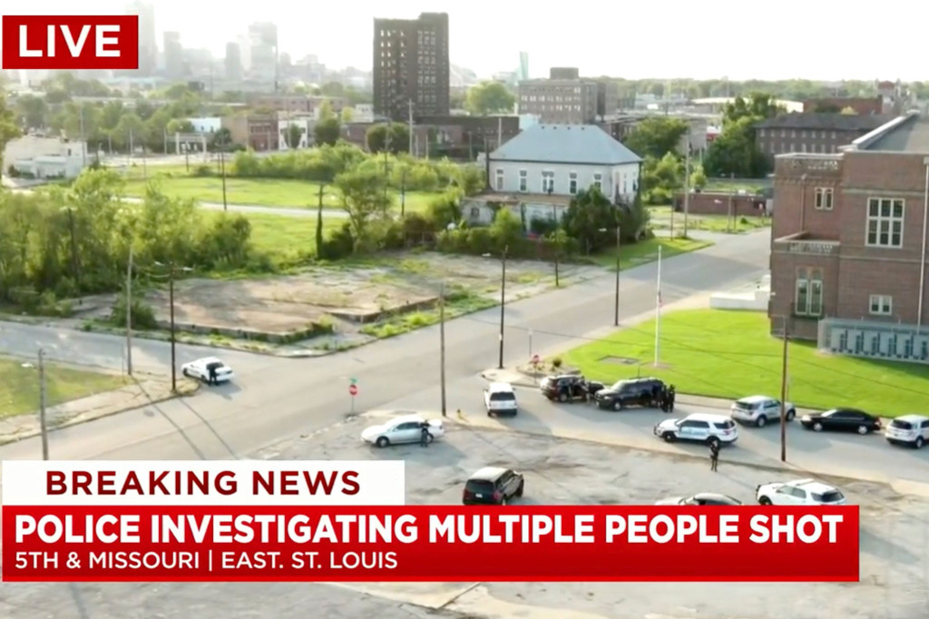 Gunman at large after 12 people shot in East St. Louis, Illinois